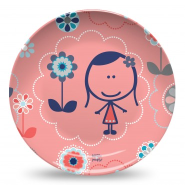 Felittle Large Flowers Poppy Plate.jpg