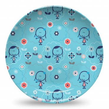 Felittle Flowers Blue Plate.jpg
