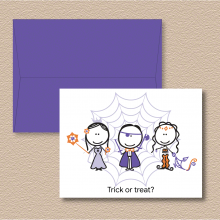 Trick or treat? Note Cards