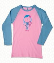 Sweet blue pink tee F2