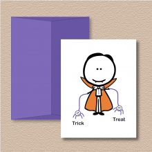 Trick or Treat Spiders Halloween Note Cards